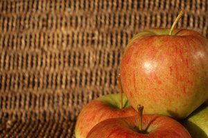 Apples and basket texture