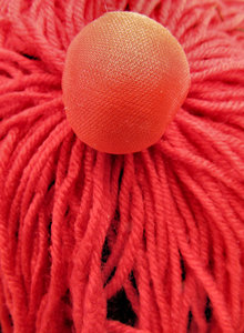 fabric ball and strands