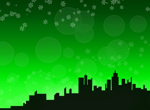 Winter skyline background 2 -