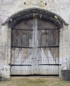 Ancient barn doors
