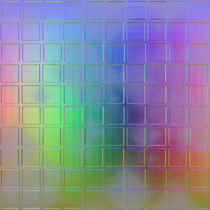 3D Glass Squares 2: 3d glass background, texture or fill in rainbow colours. Could be a window or wall. High definition version available.