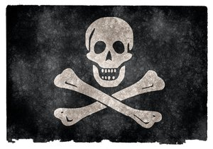 Jolly Roger Grunge Flag