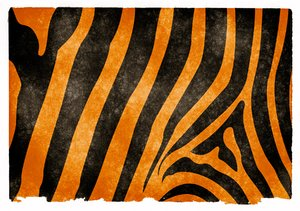 Tiger Stripes Grunge Paper