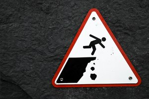 Cliff Drop Warning Sign