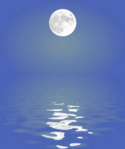 Moon Reflected in Water 2