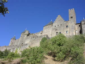 Carcasonne: Old town of Carcassonne, France, where hundreds of heretic followers of Albi where surrounded