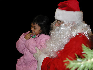 santa and child: No description