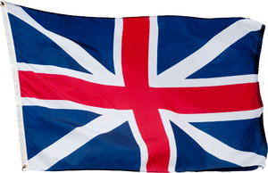 Old Union Jack: This flag was in use between 1606 and 1801. However between 1634 and 1707 its use was restricted to the Royal Navy's ships. The flag represents the Cross of St George over the Cross of St Andrew.