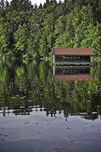 cottage in the lake