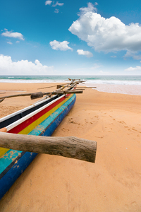 Fisher Boat on Beach Sri Lanka