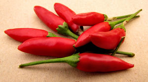red hot2: small red hot chilli peppers