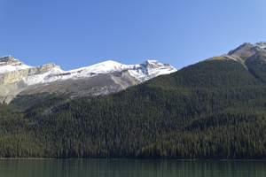 Majestic mountains: Lakeside mountains in the Rockies, Canada.