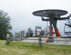 Chairlift base