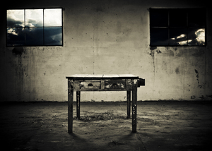 abandoned table