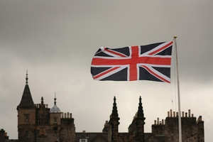 Union Jack over Edinburgh