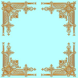 Golden Ornate Border 11