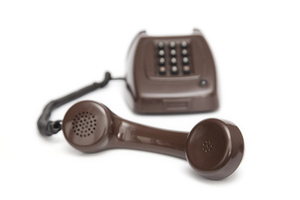 Brown Telephone