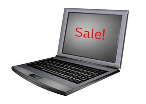 Computer Sales 1: A computer with a