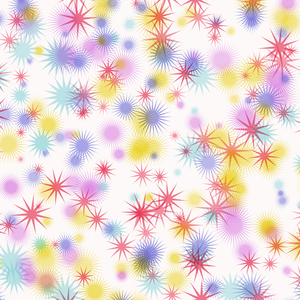 Colourful Star Background 1