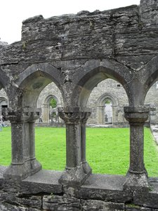 Cong Abbey, Mayo: Beautiful stonework at the runis of Cong Abbey in Co. Mayo, Ireland