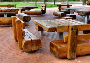 rustic picnic furniture1: rustic wooden outdoor picnic furniture