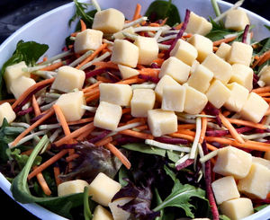 bowl of cheese & salad1