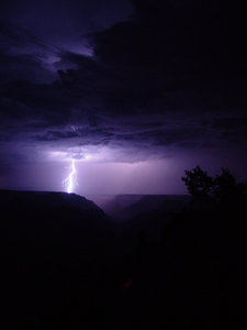 lightning over grand canyon 2