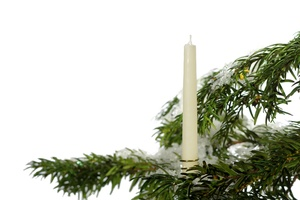 Christmas tree with candle