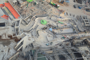 Aerial view of construction si