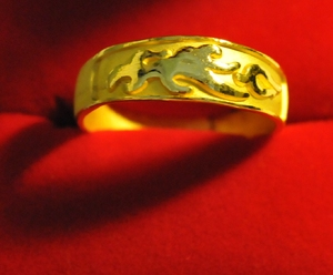 flame gold ring