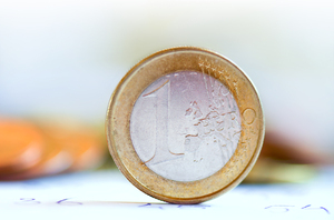 Euro coin close-up