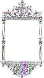 Coloured Victorian Frame