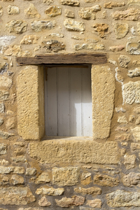 Rustic window: Window of a rustic house in the Dordogne, France.