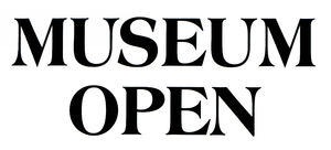 open museum3: museum open for visitors sign