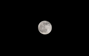 Full moon: A clear picture of the full moon