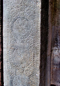 temple decorations3: artistic decorative carvings at Cambodia's Angkor Wat temple complex