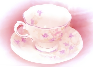 Teacup Painting 1: Made from a public domain image. My version is copyrighted to me. A painting of a dainty teacup and saucer. You may prefer:  http://www.rgbstock.com/photo/2dyVuxQ/Hot+Drink  or:  http://www.rgbstock.com/photo/2dyWtZC/Coffee+1