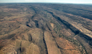 inland terrain 6-33: central Australian terrain seen from above