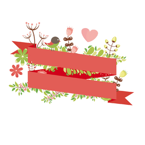 Floral Ribbon: Floral ribbon i created from a illustrator lesson