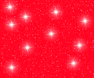 Christmas Stars on Red 1
