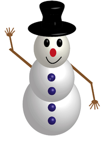 traditional snowman 3