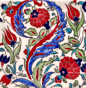 glazed floral turkish tiles1