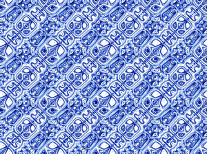 ethnic blue5C: abstract ethnic background, texture, patterns and perspectives