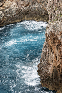 Rocky coastline: Rocky coastline in Majorca, Balearic Islands, Spain.